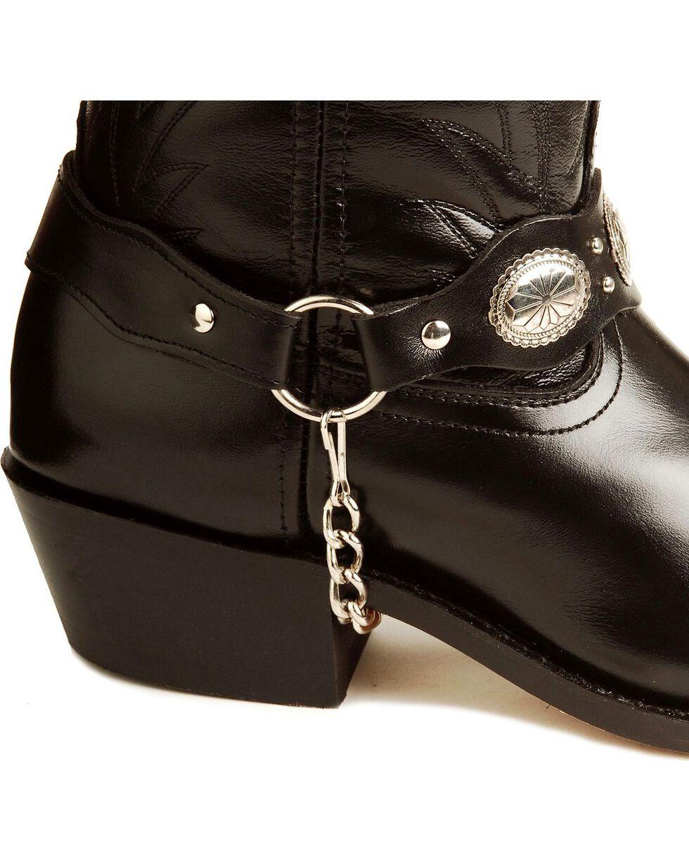 Laredo Concho Harness Boots, Black, hi-res