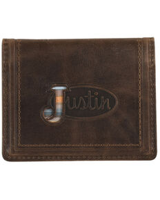 Justin Men's Brown Front Pocket Serape Bifold Wallet, Brown, hi-res