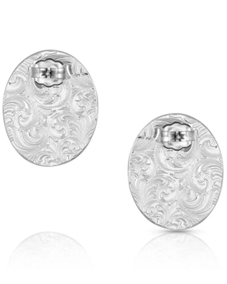 Montana Silversmiths Women's Turquoise Cameo Earrings, Silver, hi-res