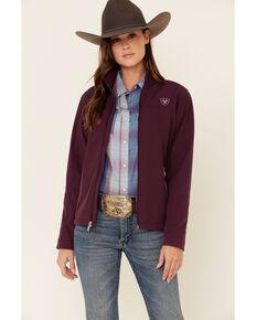 Ariat Women's Plum Team Logo Softshell Jacket , Purple, hi-res