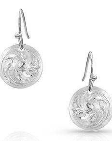 Montana Silversmiths Women's Classic Beauty Mini Concho Dangle Earrings, Silver, hi-res