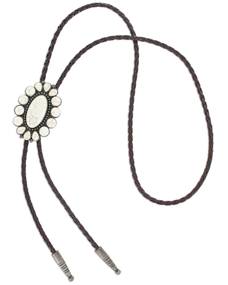 Montana Silversmiths Women's Moonflower Bolo Tie, No Color, hi-res