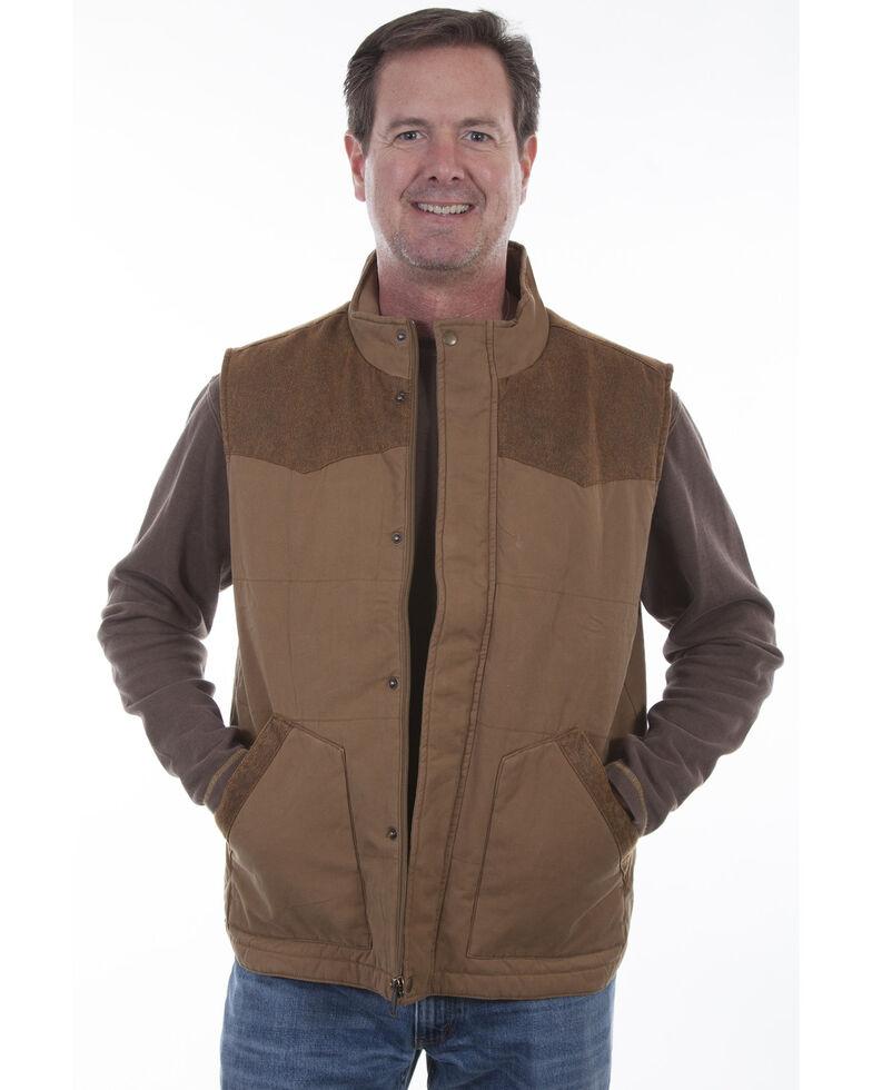 Scully Men's Canvas Vest, Tan, hi-res