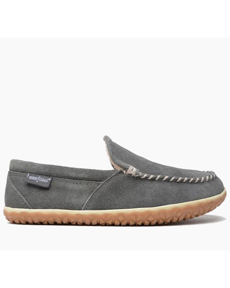 Minnetonka Men's Grey Tilden Slippers - Moc Toe, Grey, hi-res