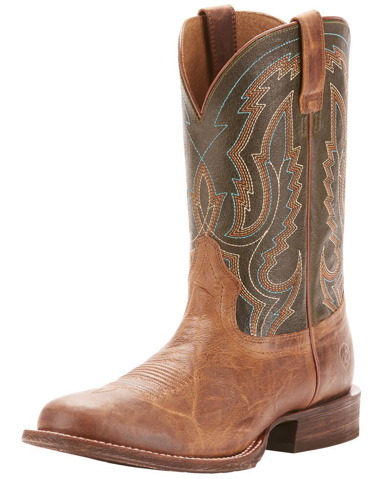 Ariat Men's Circuit Competitor Rifle Green Cowboy Boots   Round Toe by Ariat
