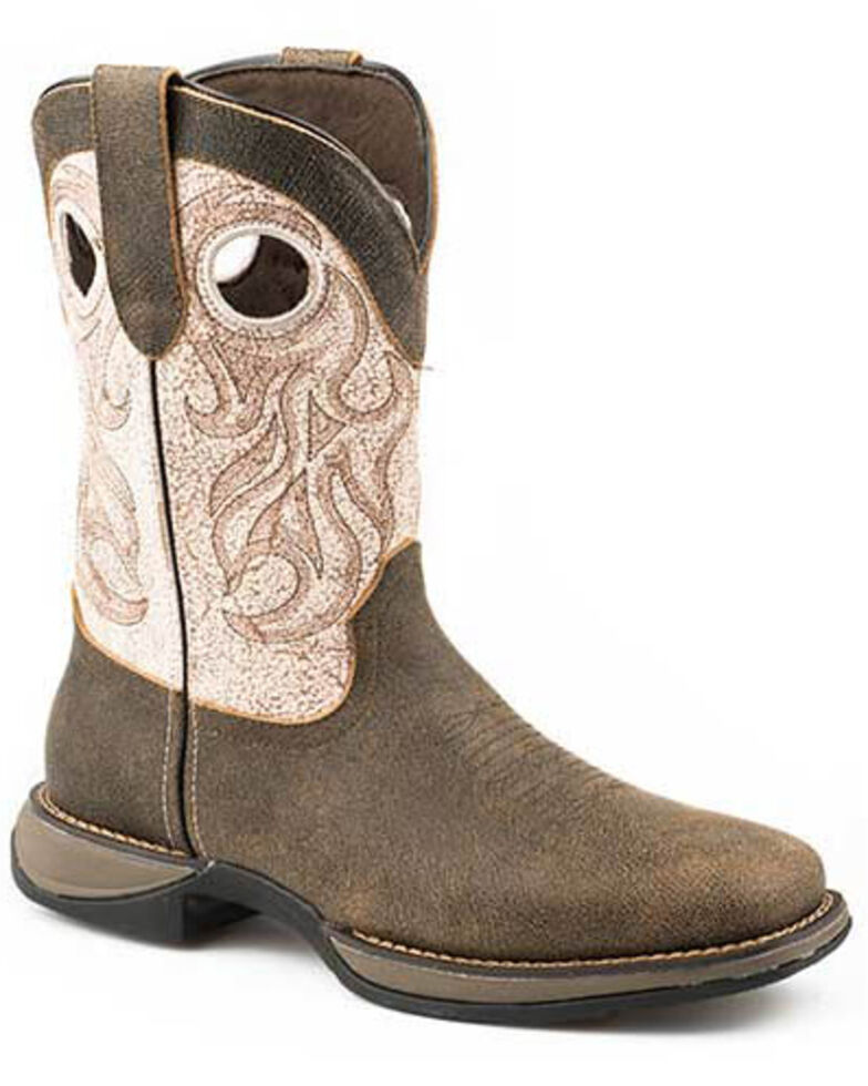 Roper Men's Wilder Western Boots - Square Toe, Brown, hi-res