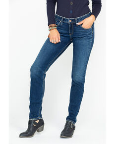 Silver Women's Mid-Rise Boyfriend Jeans, Indigo, hi-res