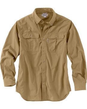 Carhartt Men's Foreman Long Sleeve Work Shirt - Big & Tall, Beige, hi-res
