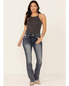 Grace in LA Women's Rose Gold Aztec Bootcut Jeans, Blue, hi-res