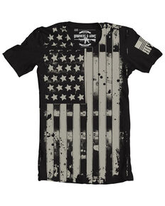 Brothers & Arms Men's Old Glory Flag Graphic T-Shirt , Black, hi-res