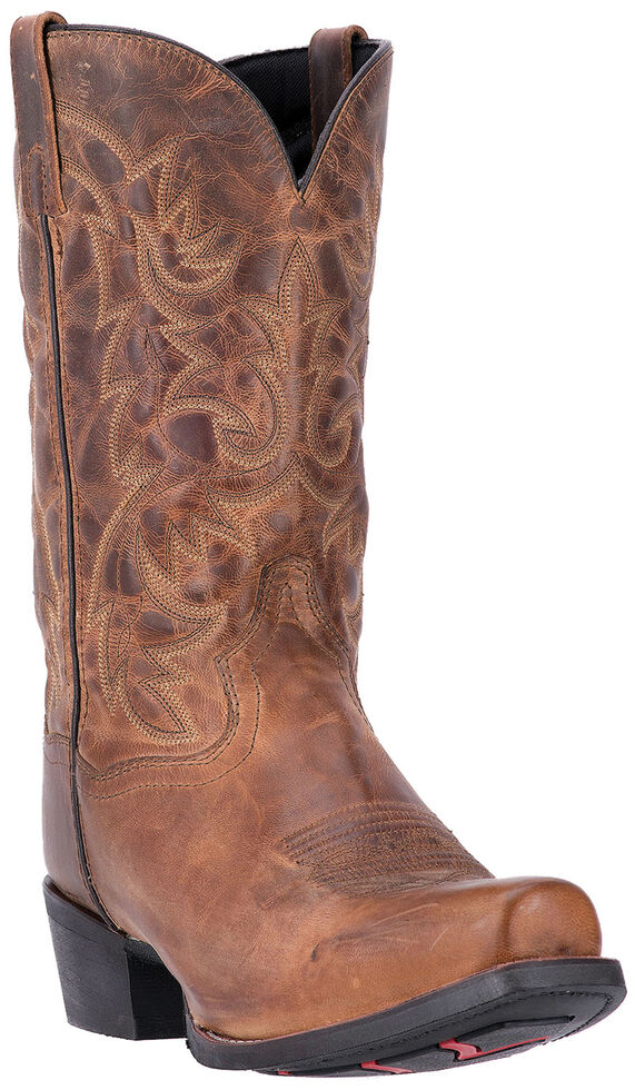 Laredo Men's Bryce Cowboy Western Boots - Square Toe , Distressed, hi-res