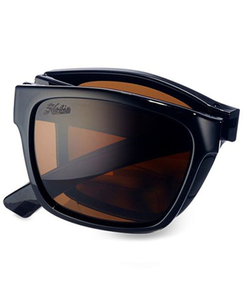 "Hobie Men's Imperial Shiny Black & Copper 1.5"" Foldable Polarized Reader Glasses , Black, hi-res"
