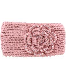 Shyanne Women's Blush Rhinestone Floral Ear Warmer, Light Pink, hi-res