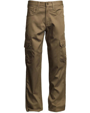 Lapco Men's FR Reinforced Straight Cargo Work Pants , Beige/khaki, hi-res