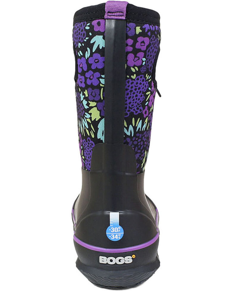 Bogs Girls' Big Garden Rubber Boots - Round Toe, Black, hi-res