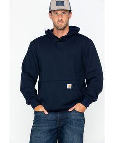 Carhartt Men's Hooded Pullover Solid Work Sweatshirt , Navy, hi-res