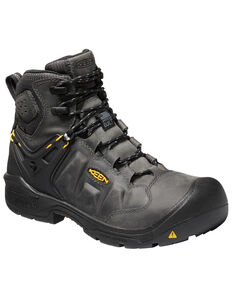 Keen Men's Black Dover Waterproof Work Boots - Composite Toe, Black, hi-res