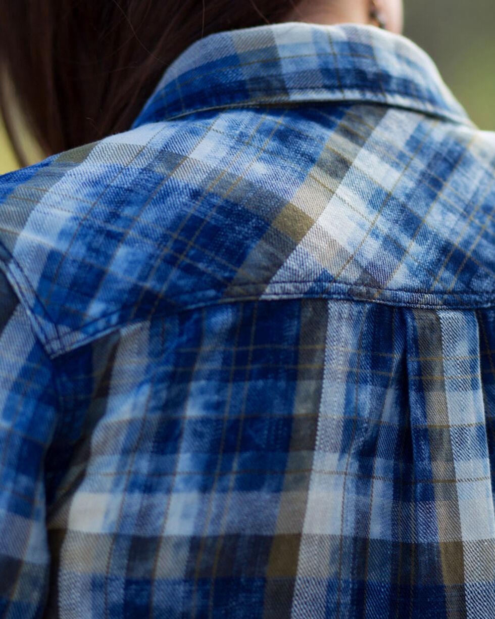 Ryan Michael Women's Moss Plaid Dress , Moss Green, hi-res