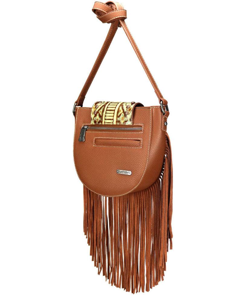 Montana West Women's Aztec Fringe Crossbody Bag, Brown, hi-res