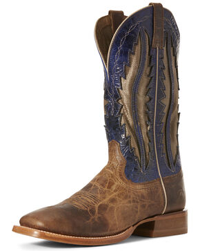 Ariat Men's Fresh VentTEK Western Boots - Wide Square Toe, Wheat, hi-res