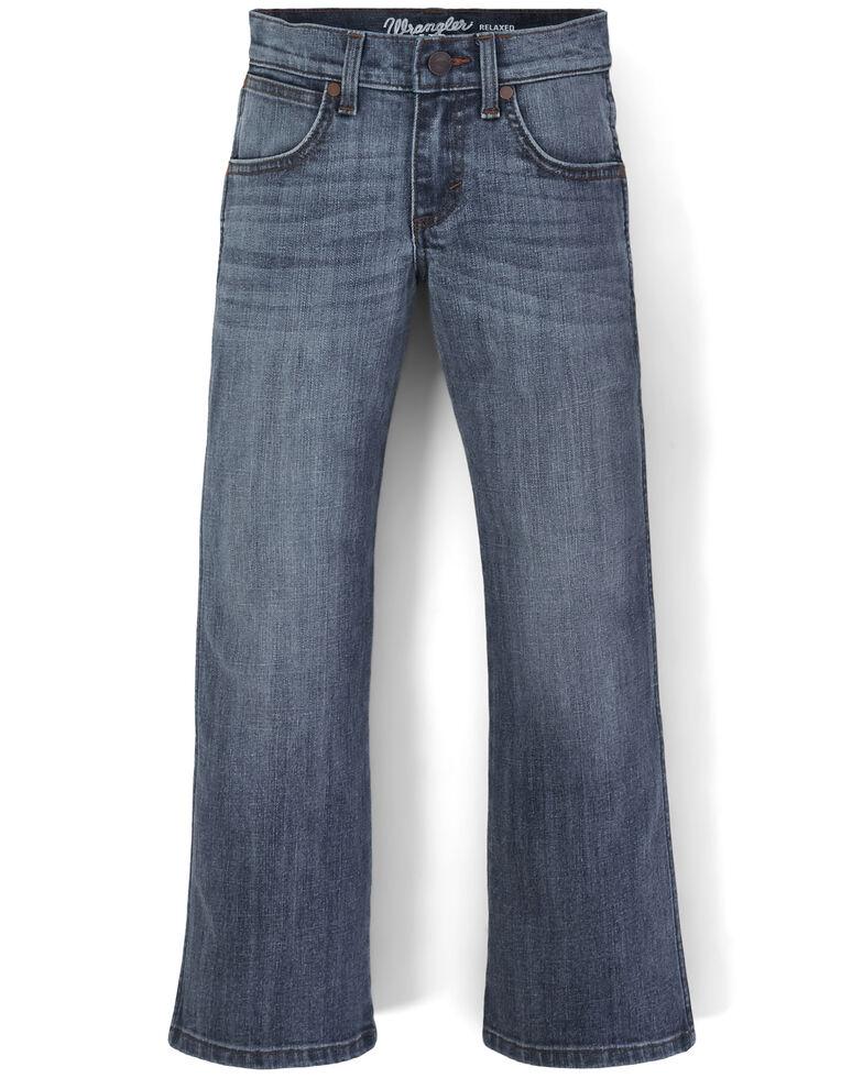 Wrangler Retro Boys' Kingston Stretch Relaxed Bootcut Jeans , Blue, hi-res