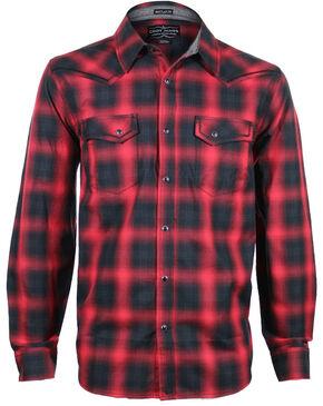 Cody James Men's Sky Plaid Long Sleeve Shirt, Red, hi-res