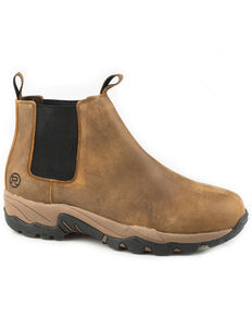 Roper Men's Tan Air Light Romeo Boots - Round Toe, Tan, hi-res