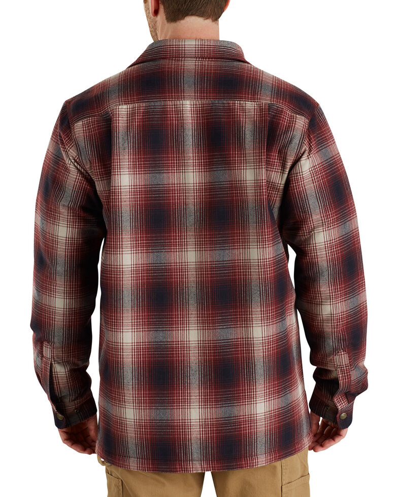 Carhartt Men's Hubbard Sherpa-Lined Shirt Jacket, Chestnut, hi-res