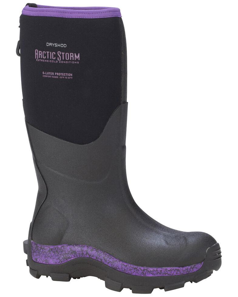 Dryshod Women's Purple Arctic Storm Winter Rubber Boots - Soft Toe, Black, hi-res