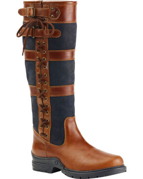 Ovation Women's Alistair Country Boots, Brown, hi-res