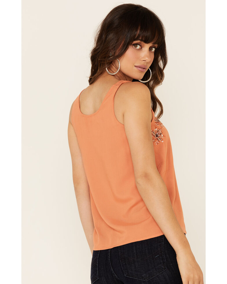 Idyllwind Women's Woodland Embroidered Tank, Peach, hi-res