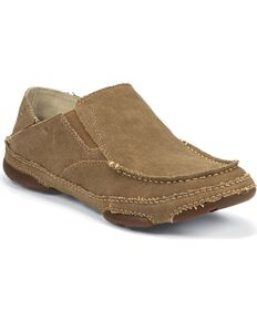 Tony Lama Canvas Slip-On Casual Shoes, Wheat, hi-res