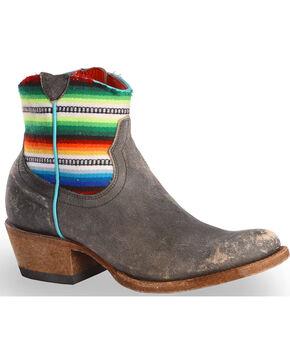 Macie Bean Women's Fiesta Chiquita Cowgirl Booties - Round Toe, Black, hi-res