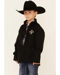 Cowboy Hardware Boys' Black Tough Softshell Zip-Front Jacket , Black, hi-res