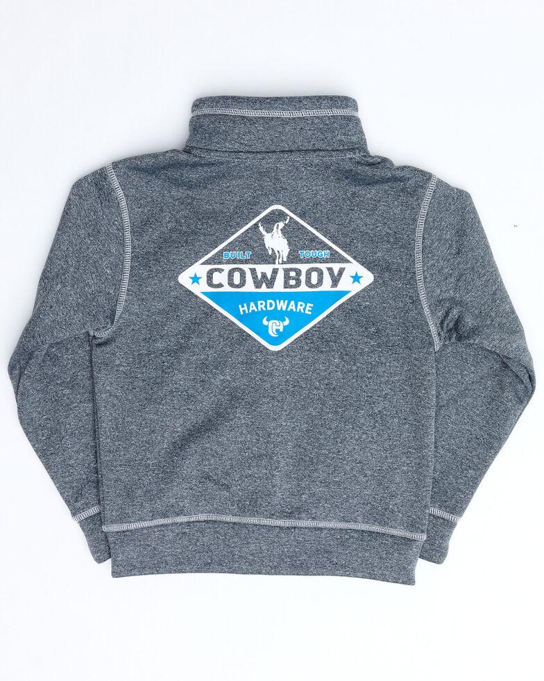Cowboy Hardware Boys' Charocoal Zip Marled Jacket , Charcoal, hi-res