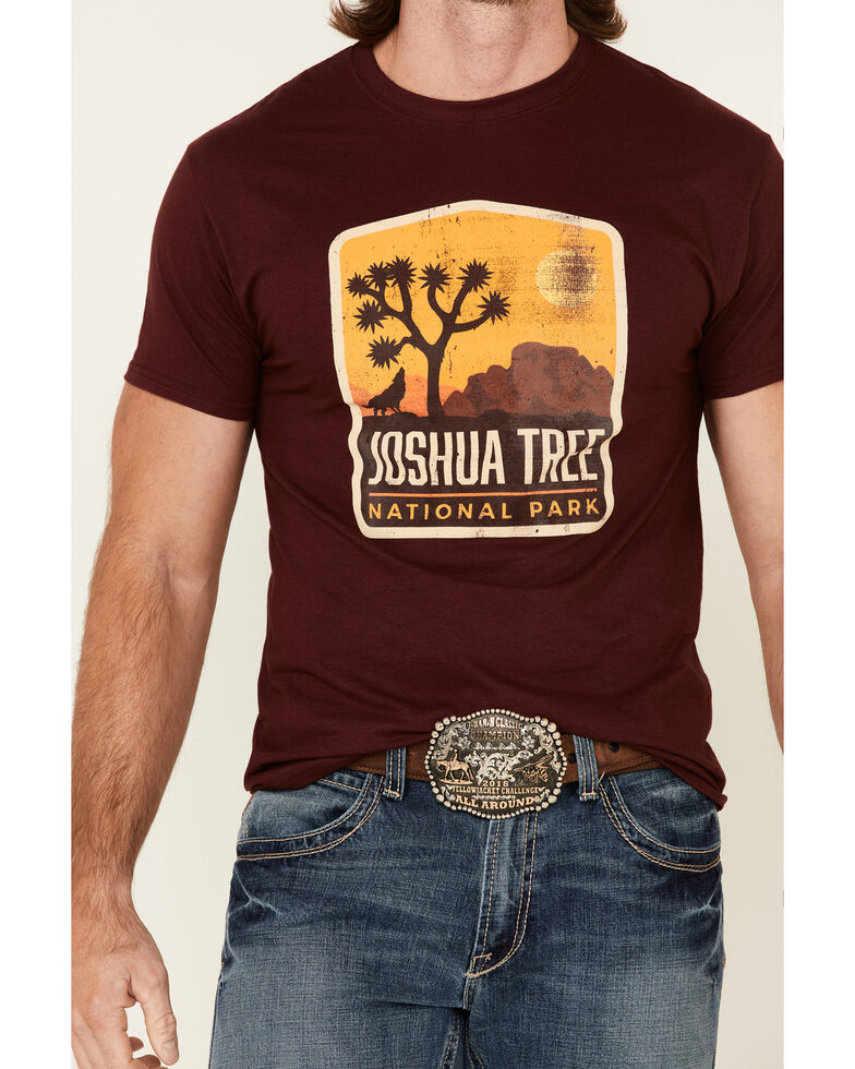 National Park Foundation Men's Red Joshua Tree Graphic Short Sleeve T-Shirt , Red, hi-res