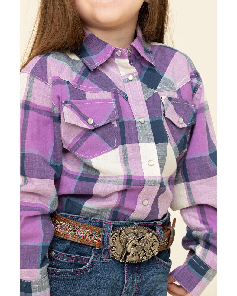 Shyanne Toddler Girls' Purple Plaid Long Sleeve Shirt, Purple, hi-res