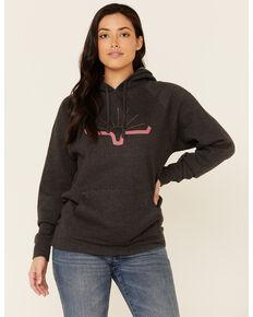 Kimes Ranch Women's Charcoal Sunrise Logo Graphic Hoodie  , Charcoal, hi-res