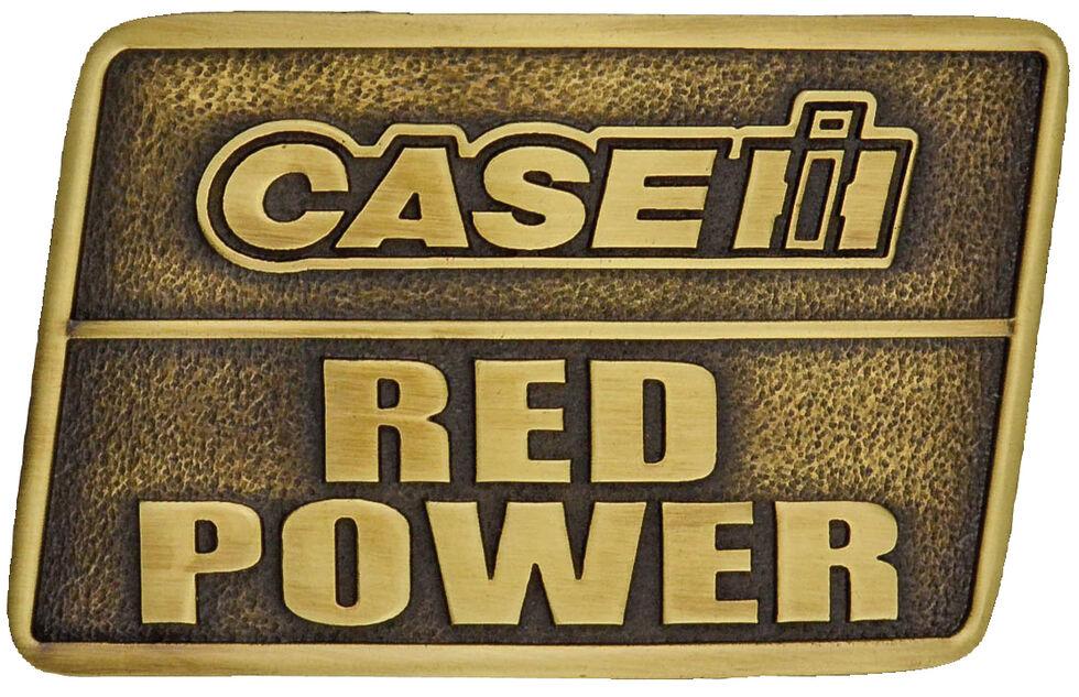 Montana Silversmiths Case IH Red Power Heritage Attitude Belt Buckle, Gold, hi-res