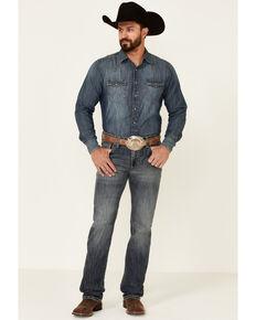 Rock & Roll Denim Men's Revolver Medium Vintage Stretch Slim Straight Jeans , Blue, hi-res