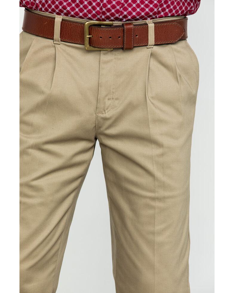 Wrangler Men's Khaki Casual Pleated Front Western Pants , Beige/khaki, hi-res