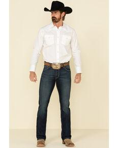 Wrangler 20X Men's No.42 Lawton Dark Stretch Vintage Slim Bootcut Jeans , Blue, hi-res