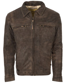STS Ranchwear Women's Turnback Leather Jacket, Dark Brown, hi-res