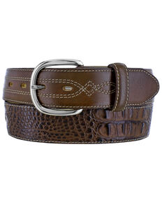 Tony Lama Men's Brown Hidalgo Hornback Belt , Brown, hi-res