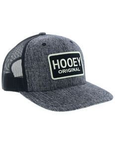 f89a161f33 HOOey Men's Black Original Patch Trucker Cap