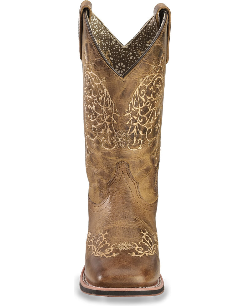 Laredo Women's Ivy Cowgirl Boots - Square Toe, Taupe, hi-res