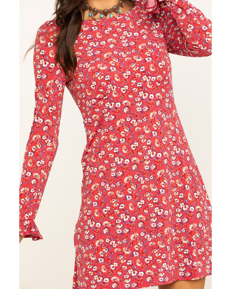 Free People Women's Say Hello Mini Dress, Red, hi-res