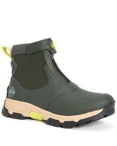 Muck Boots Men's Apex Mid Zipper Rubber Boots - Round Toe, Moss Green, hi-res