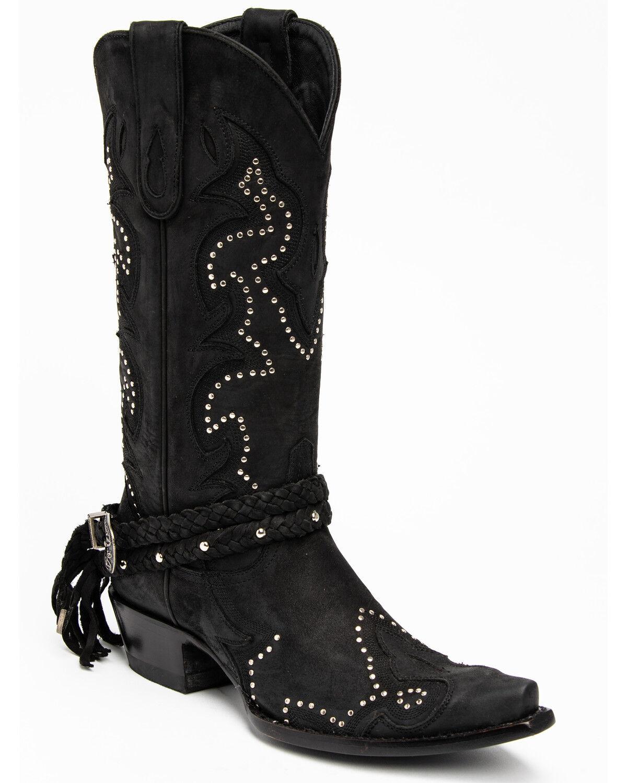 Black Barfly Western Boots - Snip Toe