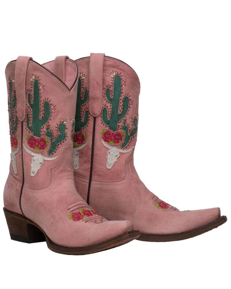 Junk Gypsy by Lane Women's Bramble Rose Western Boots - Snip Toe, Pink, hi-res